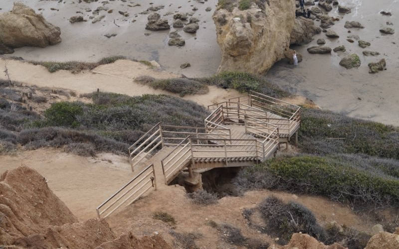 Stair case leading to beach