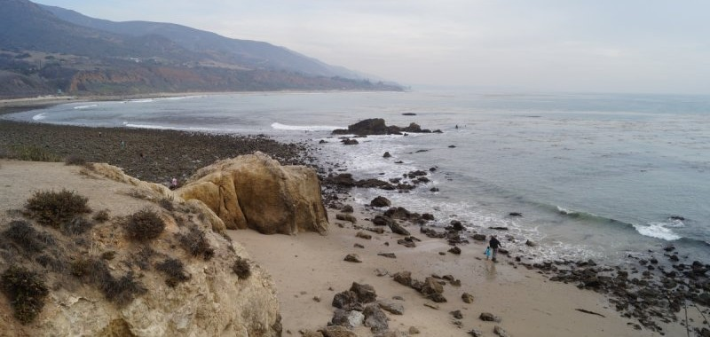 Leo Carrillo tidepool area looking south from the bluff
